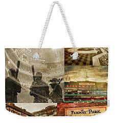 Vintage Red Sox Fenway Park Baseball Collage Weekender Tote Bag