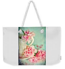 Vintage Romantic Peonies Weekender Tote Bag