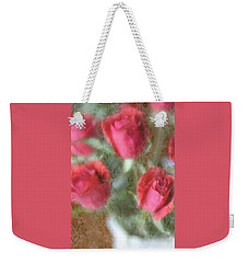 Weekender Tote Bag featuring the photograph Vintage Rose Bouquet by Diane Alexander