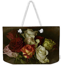 Weekender Tote Bag featuring the photograph Vintage Roses Feb 2017 by Richard Cummings