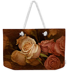 Vintage Roses March 2017 Weekender Tote Bag by Richard Cummings