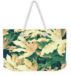 Weekender Tote Bag featuring the photograph Vintage Season Gold by Rebecca Harman