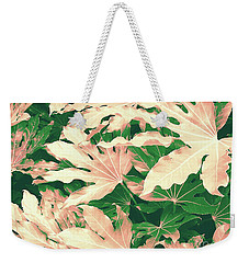 Weekender Tote Bag featuring the photograph Vintage Season Pink by Rebecca Harman
