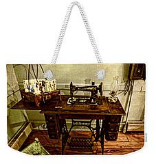 Vintage Singer Sewing Machine Weekender Tote Bag
