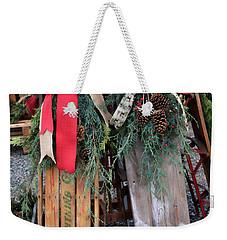 Vintage Sleds Weekender Tote Bag
