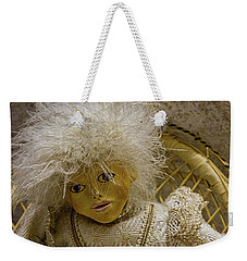 Weekender Tote Bag featuring the photograph Vintage Slovenian Doll by Stuart Litoff