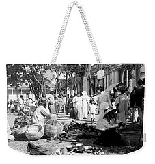 Vintage Street Scene In Ponce - Puerto Rico - C 1899 Weekender Tote Bag by International  Images