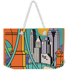Vintage Style Cincinnati Travel Poster Weekender Tote Bag