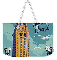 Vintage Style Cleveland Travel Poster - America's North Coast Weekender Tote Bag