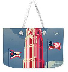 Vintage Style Columbus Travel Poster Weekender Tote Bag