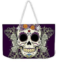 Vintage Sugar Skull And Flowers Weekender Tote Bag