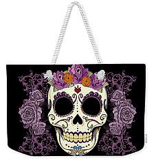 Vintage Sugar Skull And Roses Weekender Tote Bag