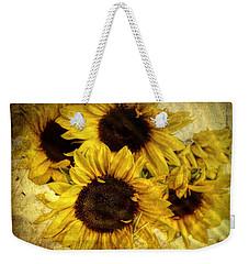 Vintage Sunflowers Weekender Tote Bag