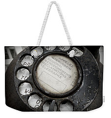 Weekender Tote Bag featuring the photograph Vintage Telephone by Lainie Wrightson