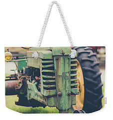 Weekender Tote Bag featuring the photograph Vintage Tractor Autumn by Edward Fielding