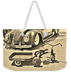 Vintage Transportation Weekender Tote Bag