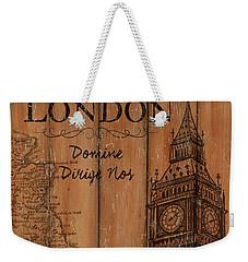 Vintage Travel London Weekender Tote Bag by Debbie DeWitt