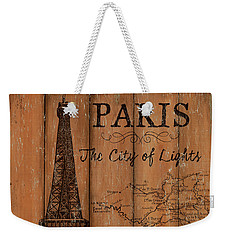 Vintage Travel Paris Weekender Tote Bag