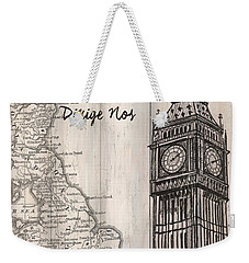 Vintage Travel Poster London Weekender Tote Bag by Debbie DeWitt
