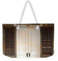 Vintage Tropical Weathered Key West Florida Doorway Weekender Tote Bag by John Stephens