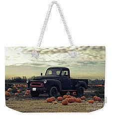 Vintage Truck In Pumpkin Graveyard Weekender Tote Bag