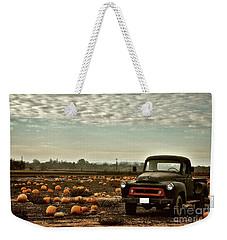 Vintage Truck Three In Pumpkin Graveyard Weekender Tote Bag