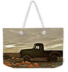 Vintage Truck Two In Pumpkin Graveyard Weekender Tote Bag