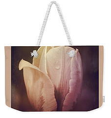 Weekender Tote Bag featuring the photograph Vintage Tulip by Mary-Lee Sanders