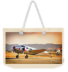 Les Whittlesey's Lockheed Electra 12a Weekender Tote Bag