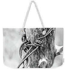 Weekender Tote Bag featuring the photograph Vintage Twist by Ann E Robson