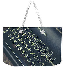 Weekender Tote Bag featuring the photograph Vintage Typewriter Faded Film by Edward Fielding