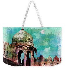 Vintage Watercolor Gazebo Ornate Palace Mehrangarh Fort India Rajasthan 2a Weekender Tote Bag