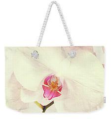 Vintage White Orchids Weekender Tote Bag