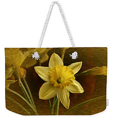 Vintage Yellow Narcissus Weekender Tote Bag