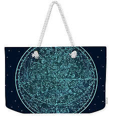 Vintage Zodiac Map - Teal Blue Weekender Tote Bag