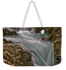 Weekender Tote Bag featuring the photograph Vintgar Gorge Rapids #2 - Slovenia by Stuart Litoff