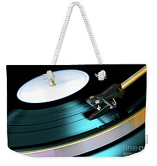 Vinyl Record Weekender Tote Bag by Carlos Caetano