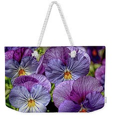 Weekender Tote Bag featuring the photograph Viola by Bonnie Willis
