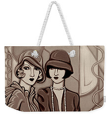 Violet And Rose In Sepia Tone Weekender Tote Bag by Tara Hutton