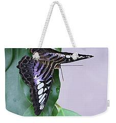 Violet Clipper Butterfly V2 Weekender Tote Bag