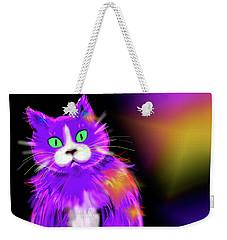 Violet Dizzycat Weekender Tote Bag