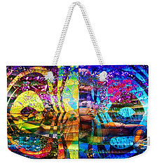 Violet Dream Spiral Weekender Tote Bag