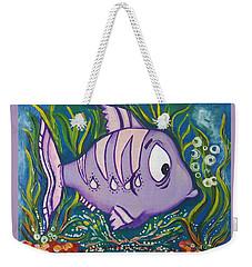 Violet Fish Weekender Tote Bag