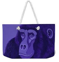 Violet Gorilla Weekender Tote Bag
