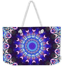 Weekender Tote Bag featuring the digital art Violet Lace by Shawna Rowe