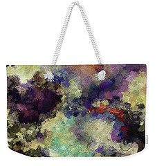 Weekender Tote Bag featuring the painting Violet Landscape Painting by Ayse Deniz