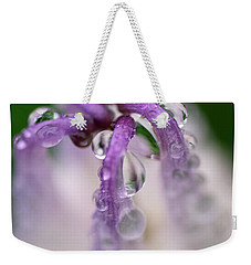 Weekender Tote Bag featuring the photograph Violet Mist by Susan Capuano