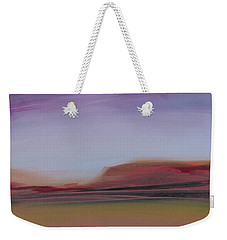 Weekender Tote Bag featuring the painting Violet Skies by Michelle Abrams