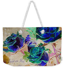 Violets Are Red- Roses Are Blue Weekender Tote Bag