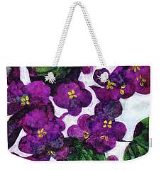 Violets Weekender Tote Bag by Julie Maas